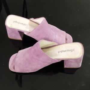 Jeffrey Campbell Lavender Suede Shoes